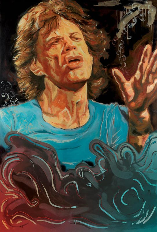 The Blue Smoke Suite - Mick Jagger, 2012 - Canvas
