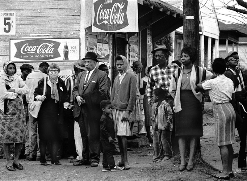 Alabama Freedom March, Coke Signs, 1965