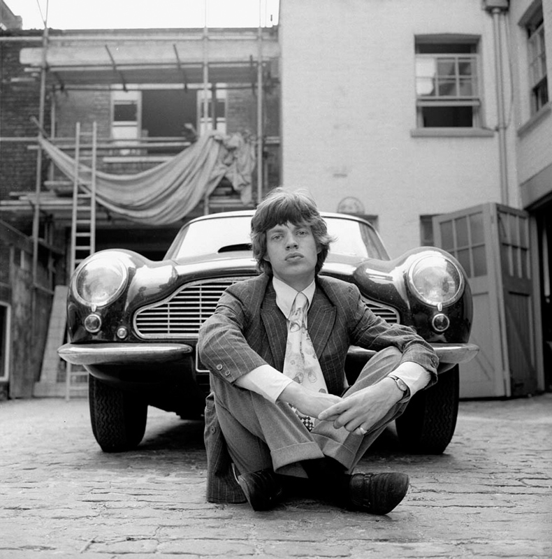 Mick Jagger and Aston Martin, at Home, 1966