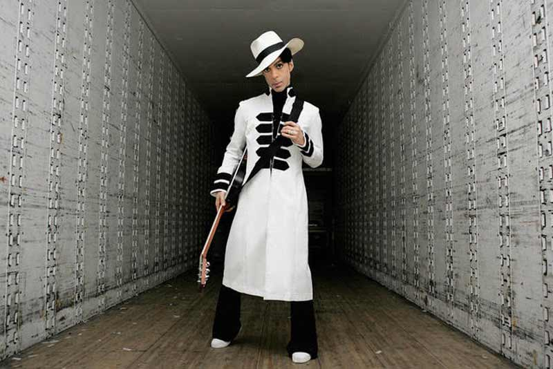 "Prince Portrait in White Suit - Inside Trailer - ""A Private View"" Book Cover, CA, 2004"