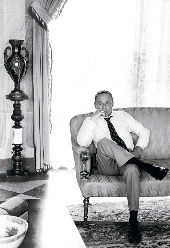 Frank Sinatra Sitting on a Sofa, On the Set of The Lady in Cement, 1968