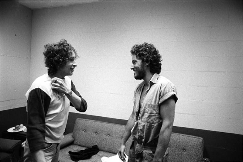 Bob Dylan Meets Bruce Springsteen Backstage, New Haven, CT, 1975