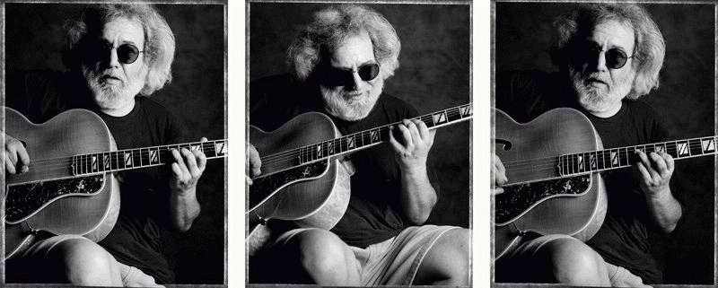 Jerry Garcia with Guitar Triptych, 1993