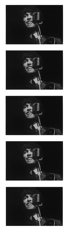 George Harrison at the Mic Quintych, 1963