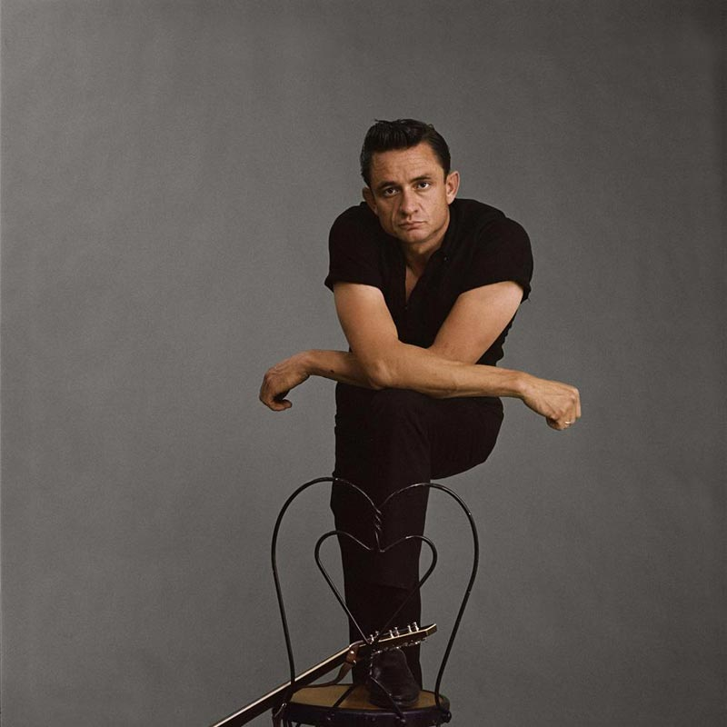 Johnny Cash Standing Portrait with Arms folded, Photo Studio, Los Angeles, CA, 1962