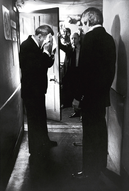 Frank Sinatra Backstage Wiping Face, London, 1989