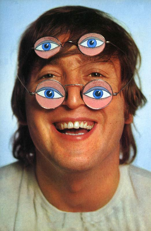 John Lennon with Kaleidoscope Glasses, 1965