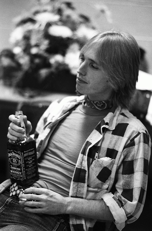 Tom Petty Backstage with Jack Daniels, 1979