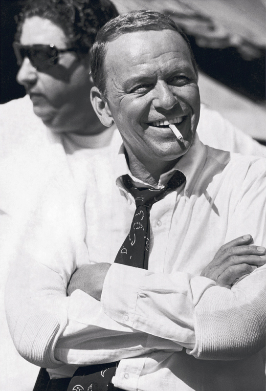 Frank Sinatra Smiling, On the Set of The Lady in Cement, 1968