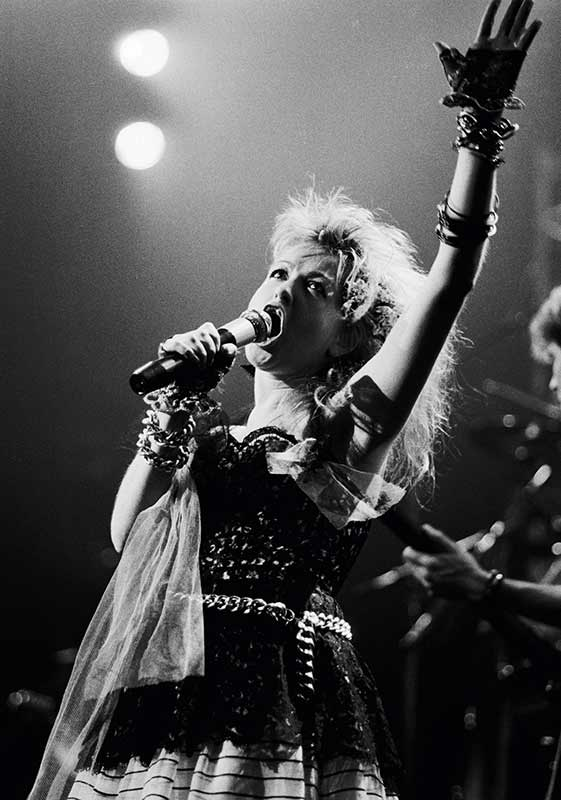 Cyndi Lauper on the Mic, Los Angeles, 1984