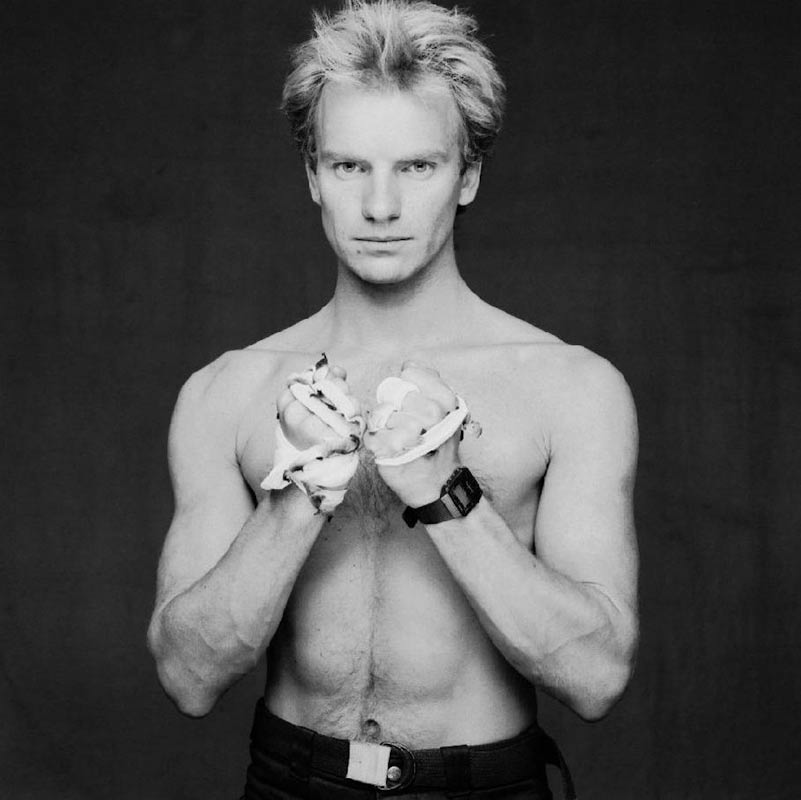 Sting, Shirtless Portrait, 1983