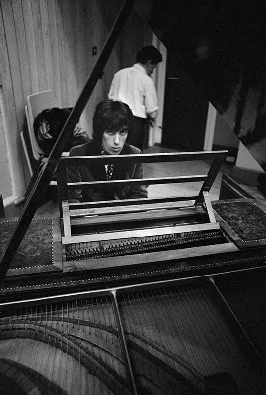 Bill Wyman Playing Piano, Olympic Studios, London, 1966