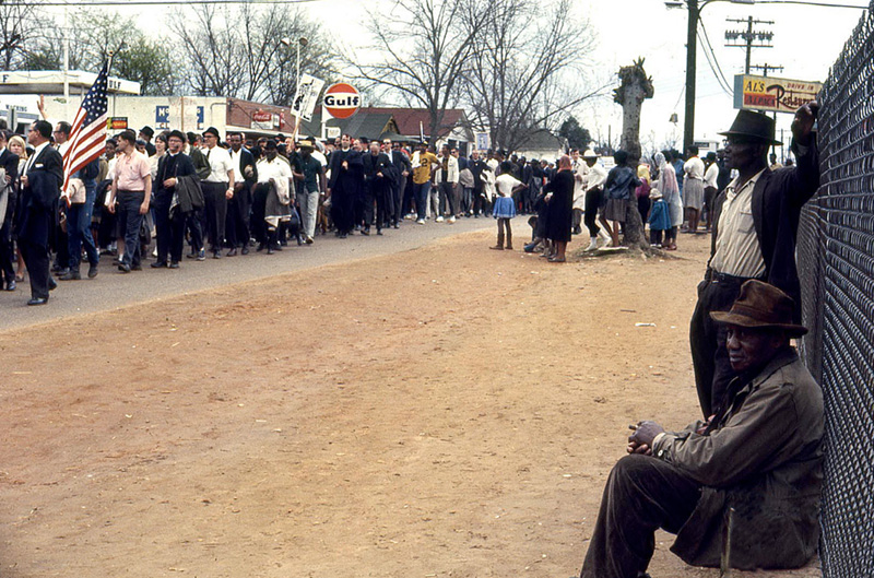 Alabama Freedom March, Two Men, 1965