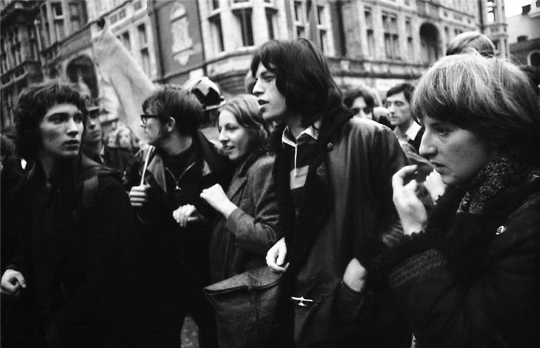 Mick Jagger, Grosvenor Square Demonstration 1968