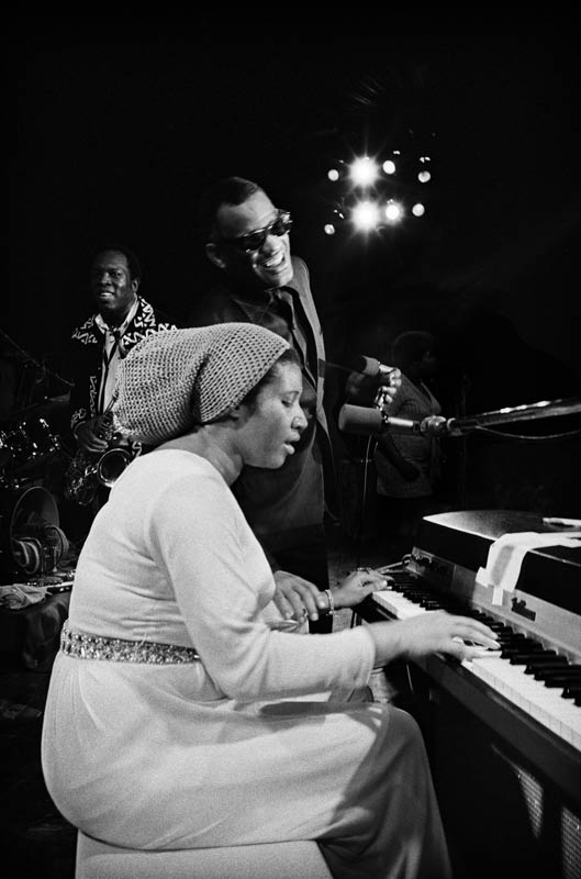 Aretha Franklin, Ray Charles, and King Curtis, Fillmore West, 1971