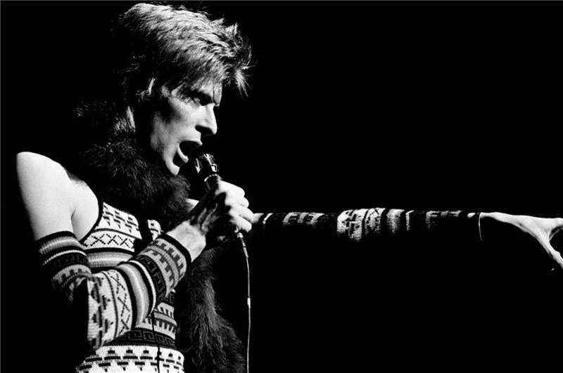 David Bowie Pointing, NYC, 1973