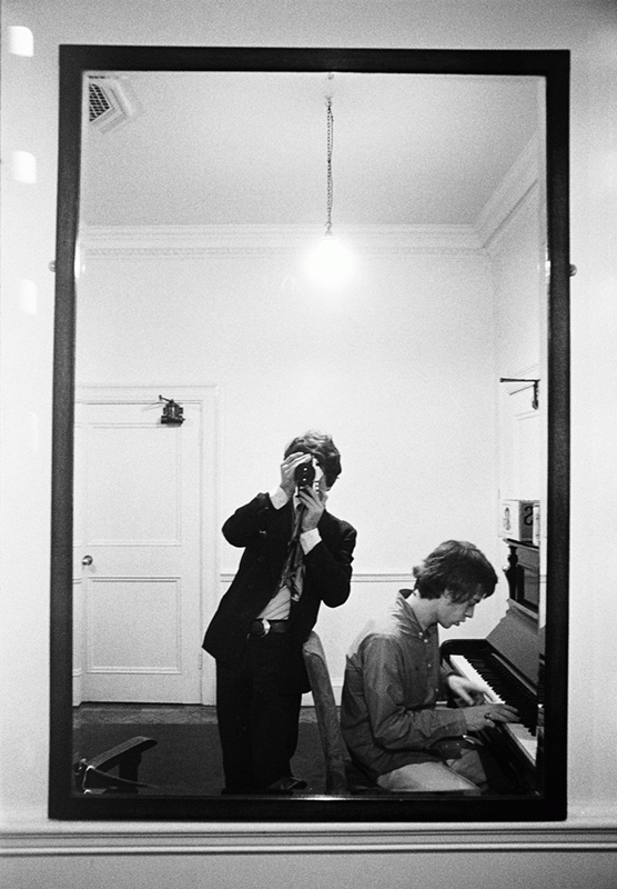 Michael Cooper and Mick Jagger at Piano, Reflection, Olympic Studios, London, 1966
