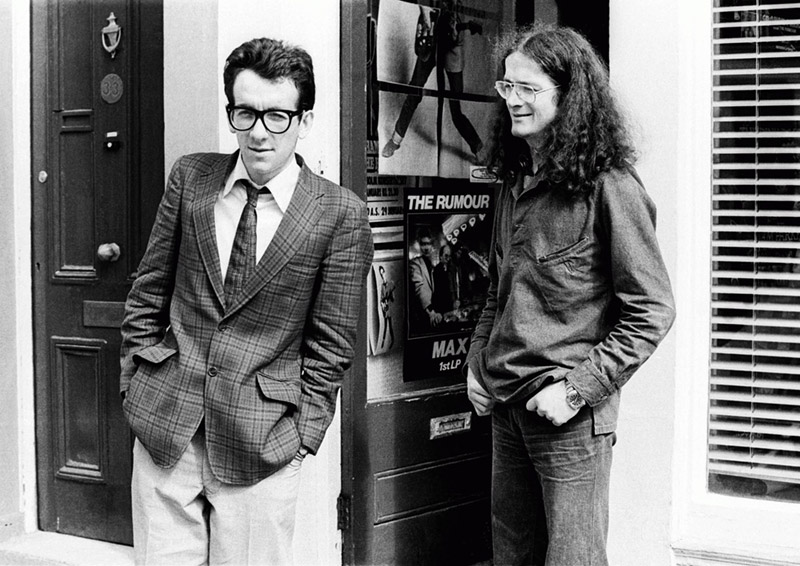 Elvis Costello Outside Stiff Records, London, 1977