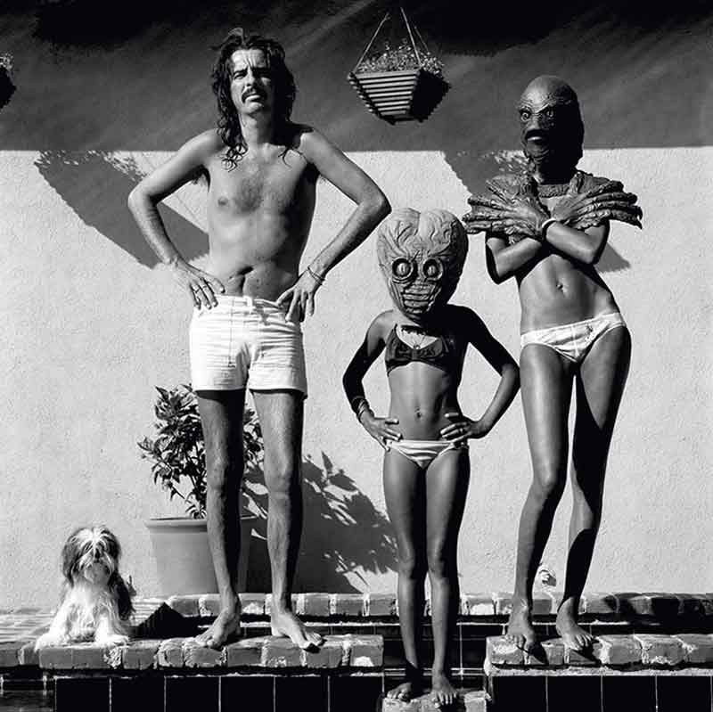 Alice Cooper with his Wife and Daughter at Home, Los Angeles, 1980s