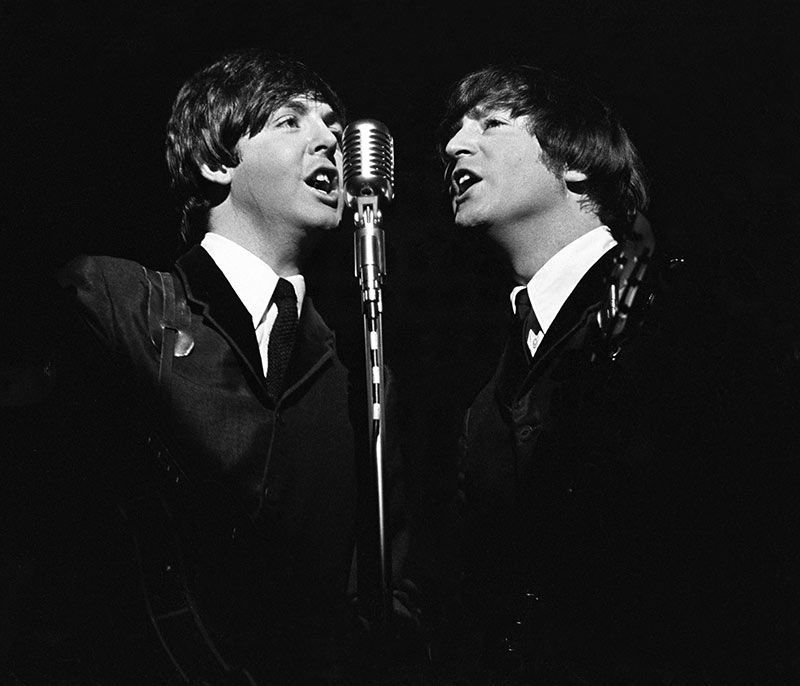 Paul Mccartney John Lennon The Ed Sullivan Show Nyc 1965