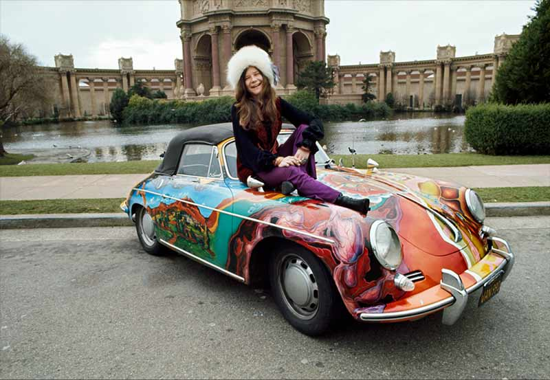 Janis Joplin and Her Psychedelic Porsche, Palace of Fine Arts, San Francisco, 1968