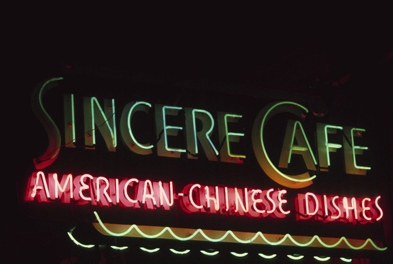 San Francisco Neon Series, Sincere Cafe, 1980