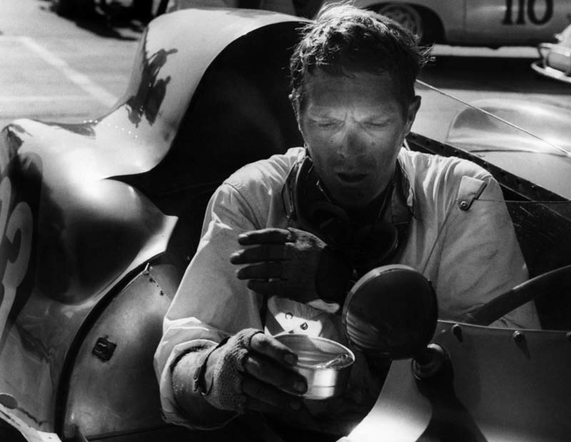 Steve McQueen - Race Shine, in his #33 Lotus Eleven, Santa Barbara Road Race, 1959
