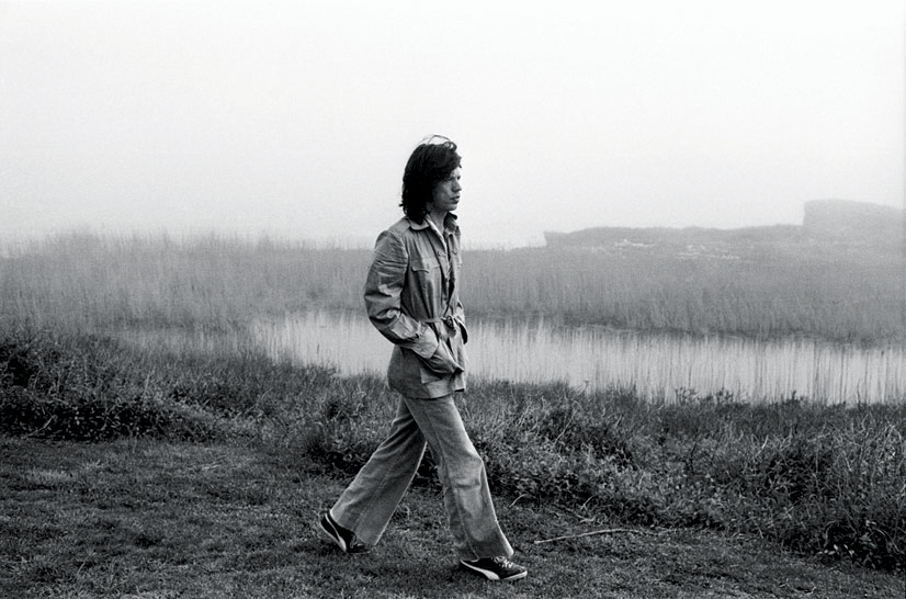 *Mick Jagger Walking in Montauk, NY, 1975