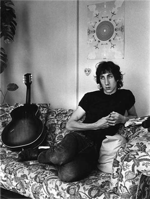 Pete Townshend on Couch, at his Flat Near Victoria Station, London, 1968