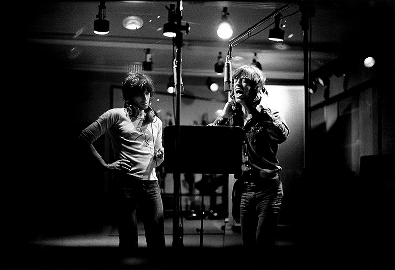 Keith Richards and Mick Jagger In Studio, Los Angeles, 1972