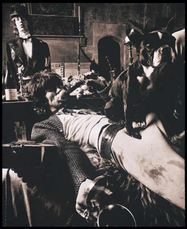 Keith Richards and Dog, Beggars Banquet Album Cover Shoot, London 1968