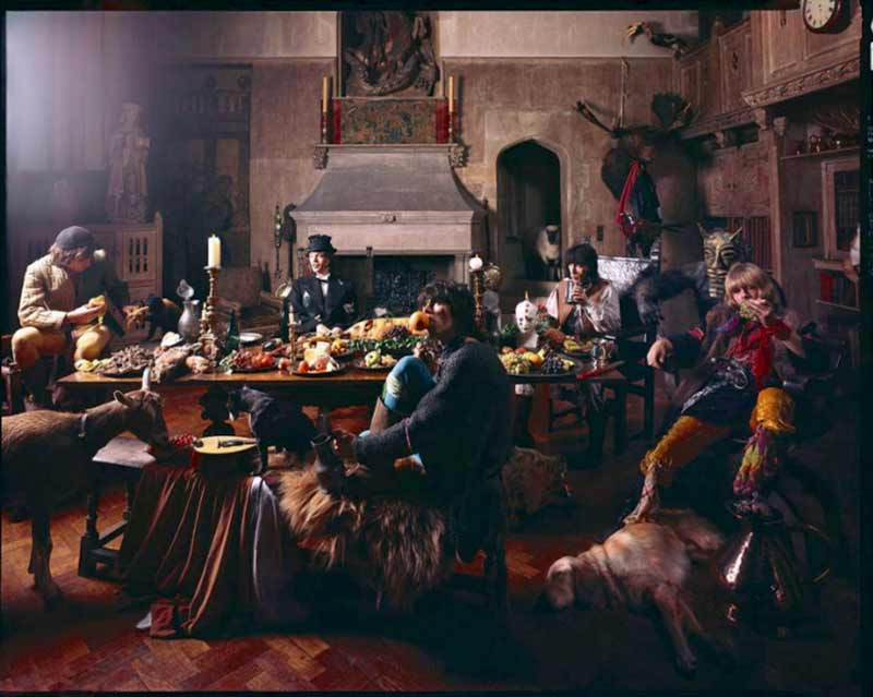 The Rolling Stones - Keith with Orange, Beggars Banquet Album Cover Shoot, London 1968