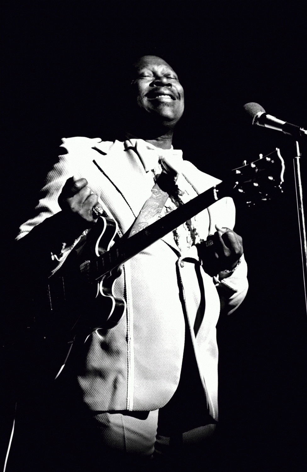 B.B. King with Lucille, West Village, NY, 1976