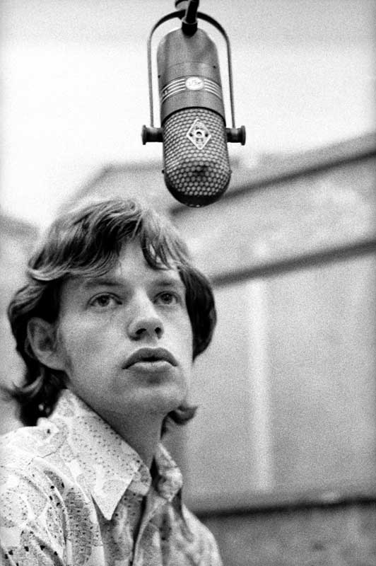 Mick Jagger at the Mic, RCA Studios, Hollywood, CA, 1965