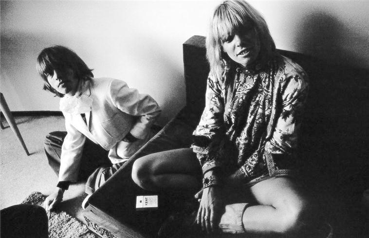 Brian Jones and Anita Pallenberg at their Courtfield Rd Apartment, 1966