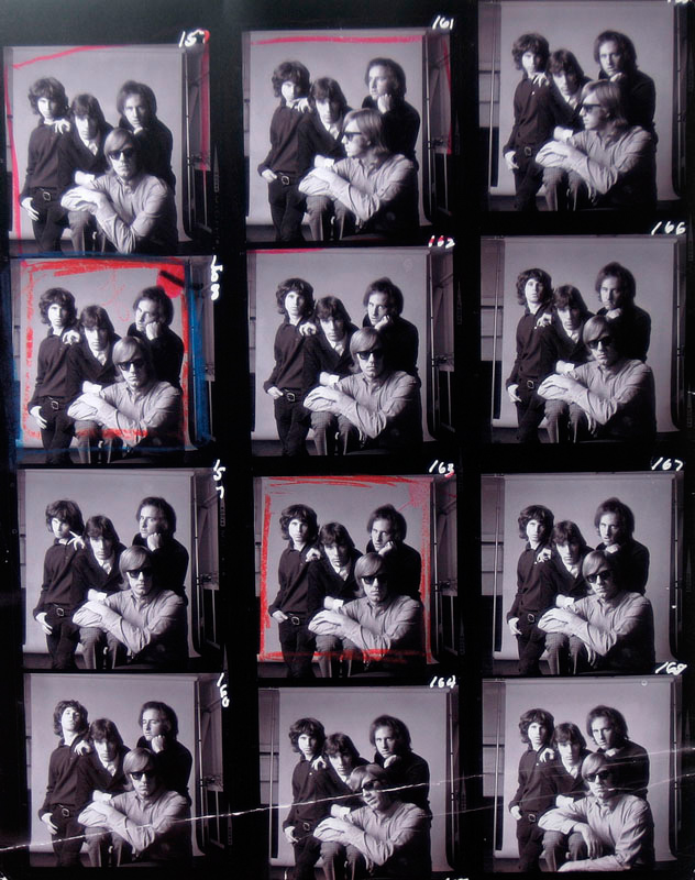 The Doors, Light My Fire Single Cover Contact Sheet, 1967