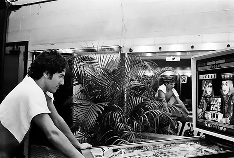 Bruce Springsteen Playing Pinball, 1978