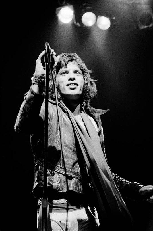 Mick Jagger Onstage with Microphone, 1972